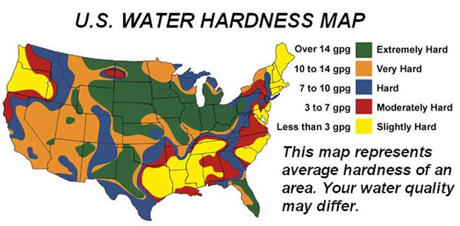 Electronic Water Descaler Map Of Hard Water Areas - Hard water map us
